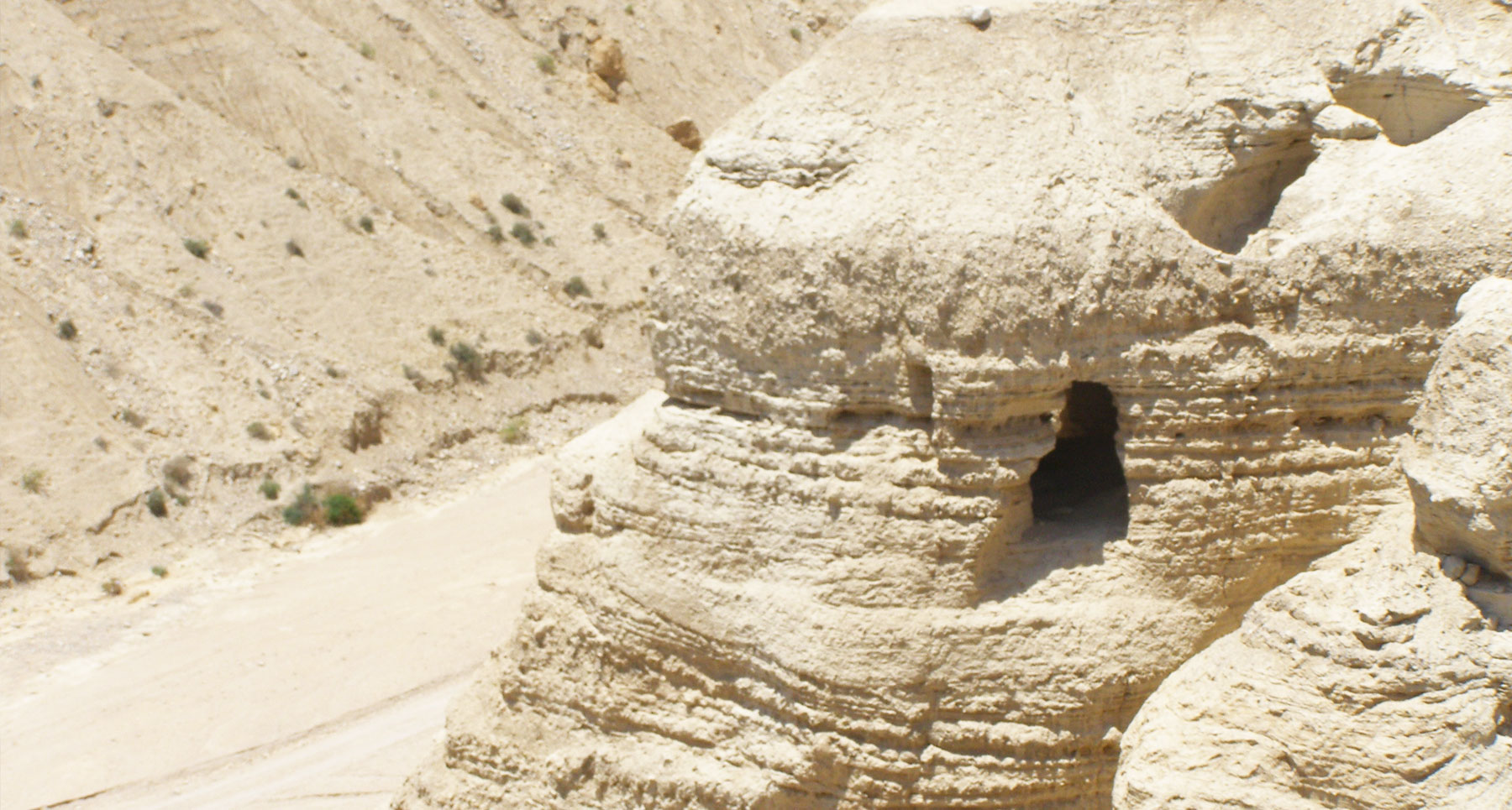 Qumran cave 4 (below the Qumran site)